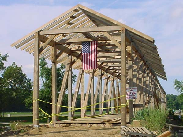 Building the Bridgeton Covered Bridge